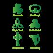 Irish celtic logo template