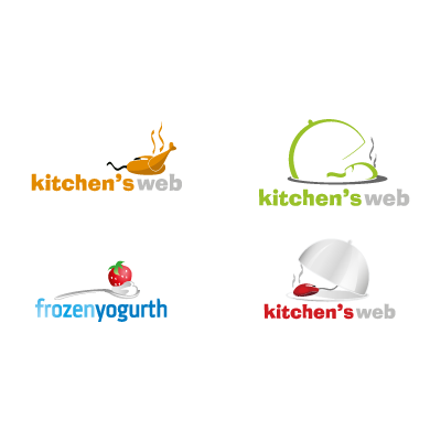 Kitchens Web logo template