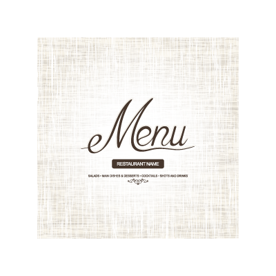 Menu cover logo template