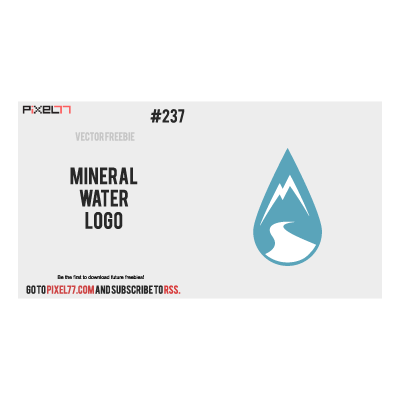 Mineral water logo template