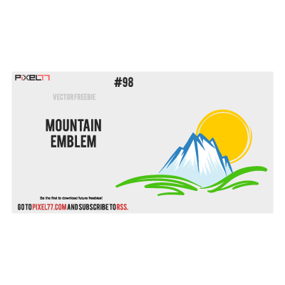 Mountain Emblem logo template