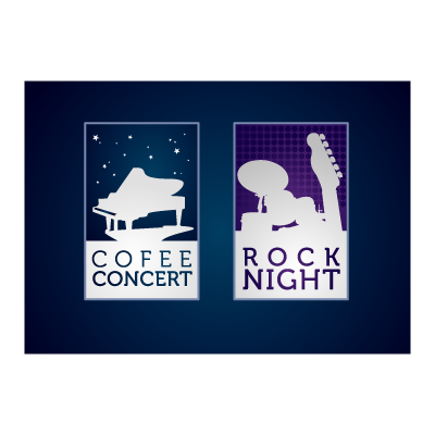 Music night club logo template