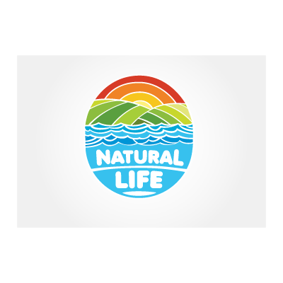Natural life logo template