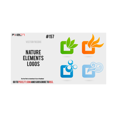 Nature elements logo template