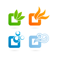 Nature logos background logo template