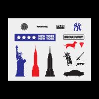New york tourism logo template
