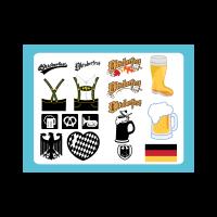 Oktoberfest graphics logo template