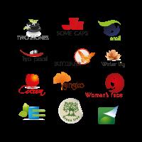 Organic eco mixed logo template