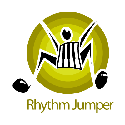 Rhythm jumper logo template