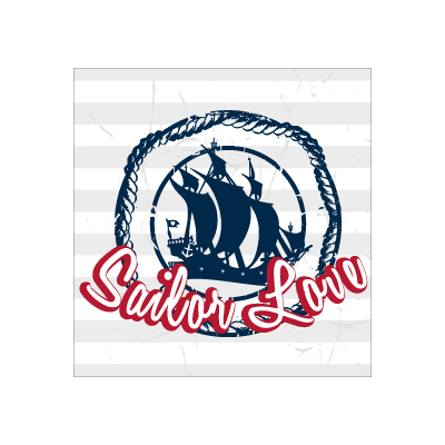 Sailor love logo template