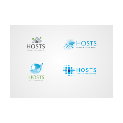 Server & Hosting logo template