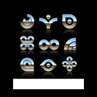 Shiny chrome logo template