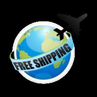 Shipping around world logo template