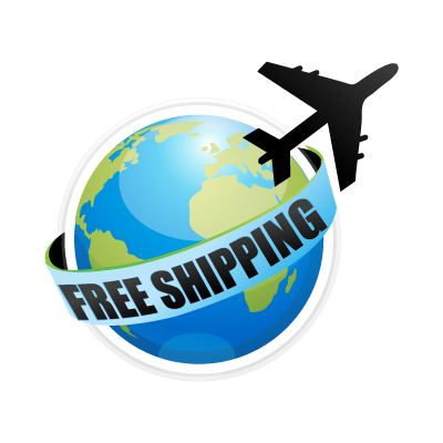 Shipping around world logo template