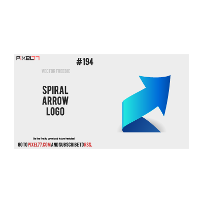 Spiral arrow logo template