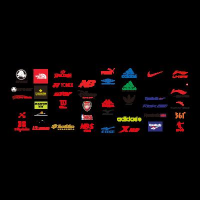 Sports brand logo template