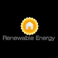 Sun energy logo template