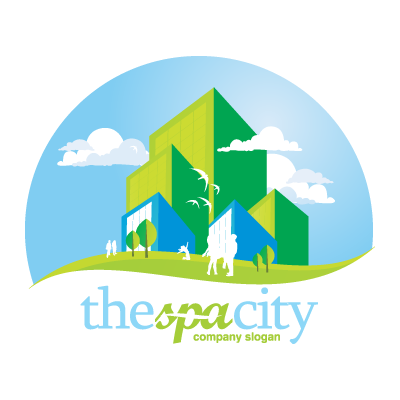 The space city logo template