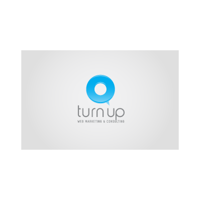 Turn up web logo template