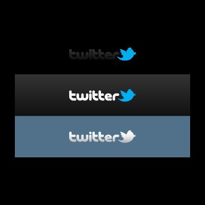 Twitter social network logo template