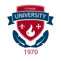 University emblem badge logo template