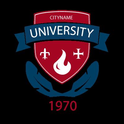 University emblem badge logo template