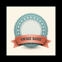 Vintage badge logo template