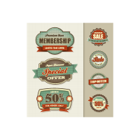 Vintage Grunge Labels logo template