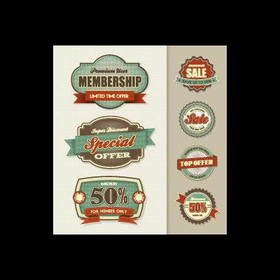 Vintage Grunge Labels logo template