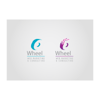 Wheel web logo template