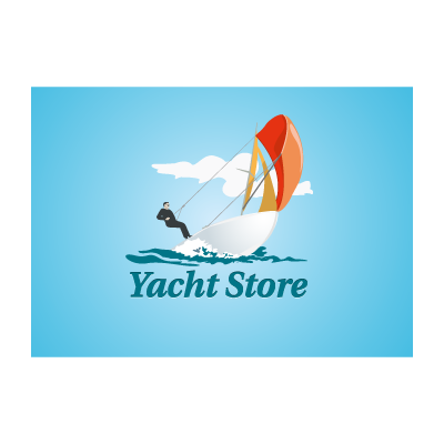 Yacht store logo template