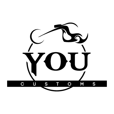 You customs motorcycle logo template