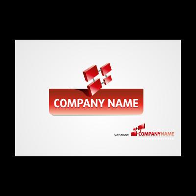 3D Rectangles logo template