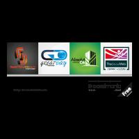 4 Set logo template