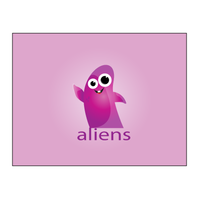 Aliens logo template