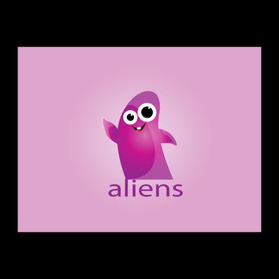 Aliens logo template