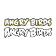 Angry bird WordArt logo template