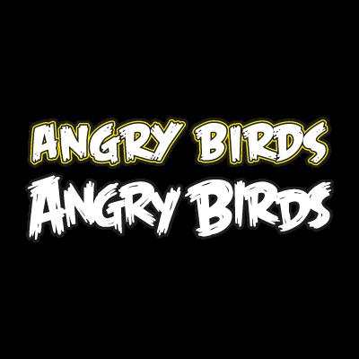 Angry bird WordArt logo template
