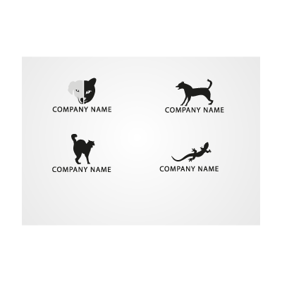 Animal icon logo template