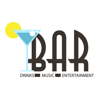 Bar logo template