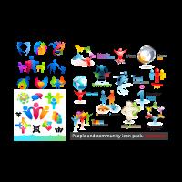 Characters main logo template