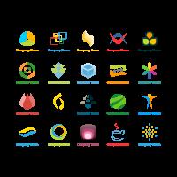 Company name icon logo template