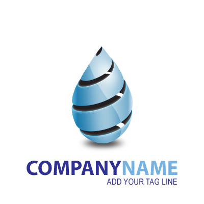 Cool Blue Drop logo template