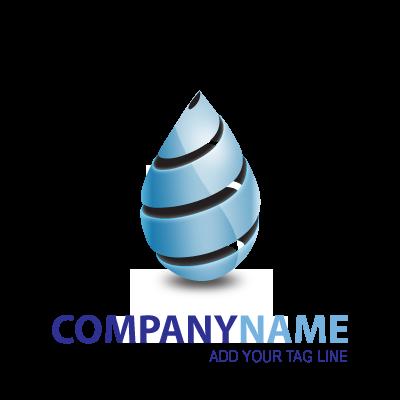 Cool Blue Drop logo template