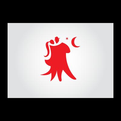 Couple dancing logo template