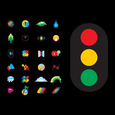 Creative colourful logo template