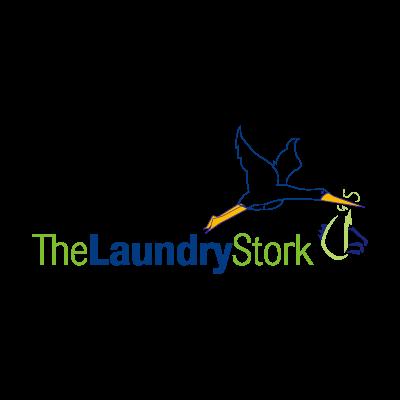 Creative laundry stork logo template