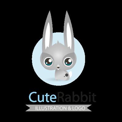 Cute rabbit logo template