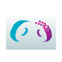 Digital curves logo template