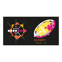 Dj party logo template